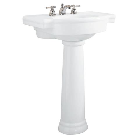 american standard retrospect pedestal combo bathroom sink in white 0282 800 020 the home depot