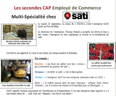 les secondes cap employ 233 de commerce multi sp 233 cialit 233 s chez sati lyc 233 e des m 233 tiers jean