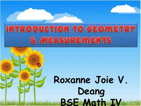 Introduction To Geometry And Measurements