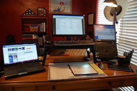the riser desk a diy standing workspace on the cheap lifehacker australia