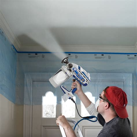 how to paint a popcorn ceiling graco