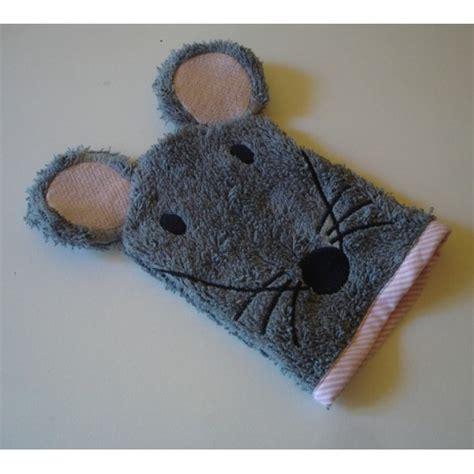 gants de toilette souris accueil animaux motifs de broderie
