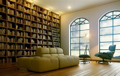 Home Library : Functional Modern Home Library Designs For All Book Lovers