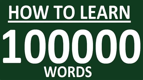 How To Learn 100 000 English Words  How To Learn English Speaking Easily English Speaking