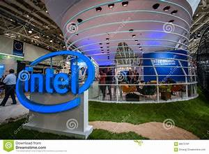 Booth Of Intel Corporation At CeBIT Information Technology ...