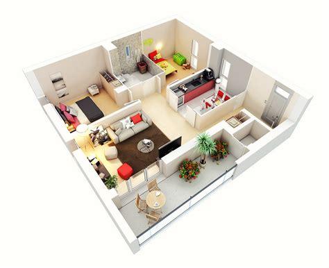 3d floor plan image 2 for the 1 bedroom studio floor plan 25 two bedroom house apartment floor plans