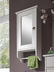 Weinregal Holz Weiß : bad spiegelschrank 39x74x16cm mit handtuchhalter kiefer massiv ~ Markanthonyermac.com Haus und Dekorationen