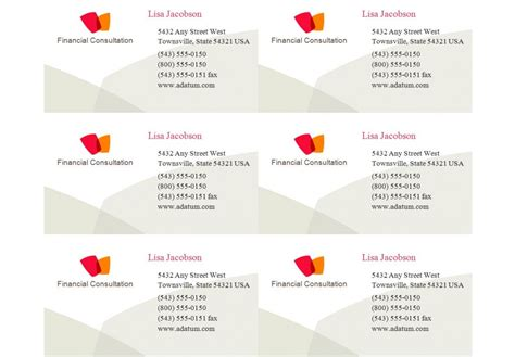 Compatible With Avery Business Card Template 8371