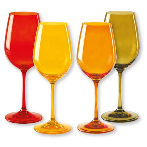 lot de 4 verres 224 vin color 233 s 35cl verrerie chic bruno evrard