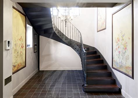 photo dt122 esca droit 174 2 4 tournants escalier d int 233 rieur balanc 233 en fer forg 233 style