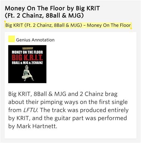 money on the floor money on the floor by big krit