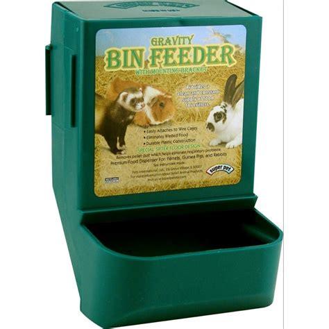 gravity bin rabbit feeder with bracket rabbit products rabbitmart