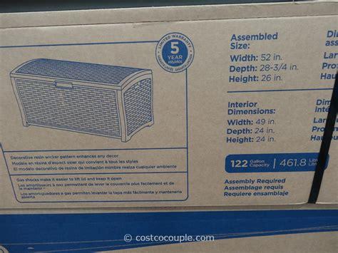 100 suncast resin deck box suncast 195 gal backyard