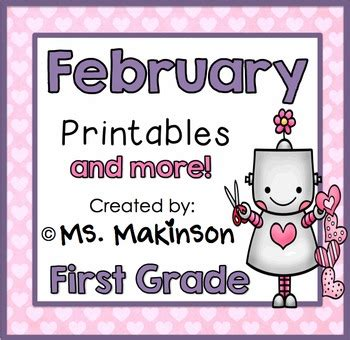 February Printables  First Grade Literacy And Math By Ms