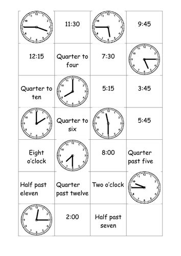All Worksheets » Clock Matching Worksheets  Printable Worksheets Guide For Children And Parents