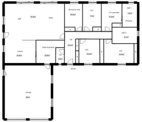 plan de construction de maison en l plans maisons