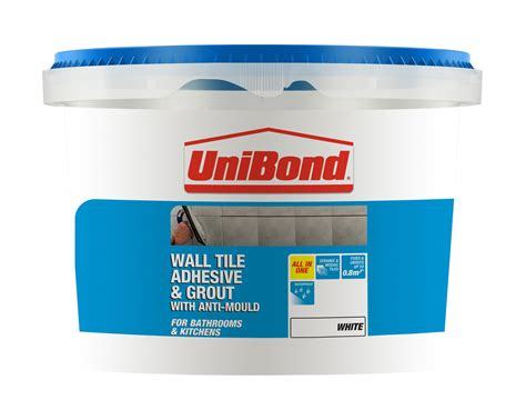 unibond ready to use wall tile adhesive grout white 1