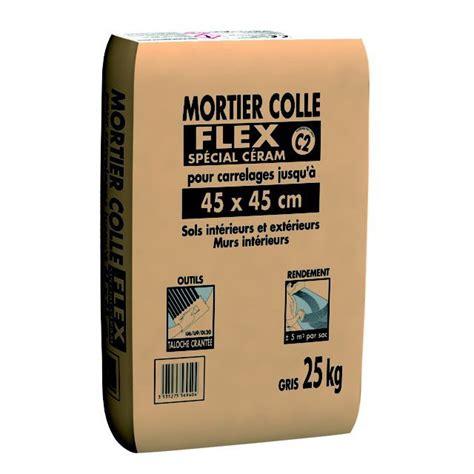 mortier colle flex sp 233 cial c 233 ram pour carrelage jusqu 224 45 x 45 cm gris 25 kg leroy merlin