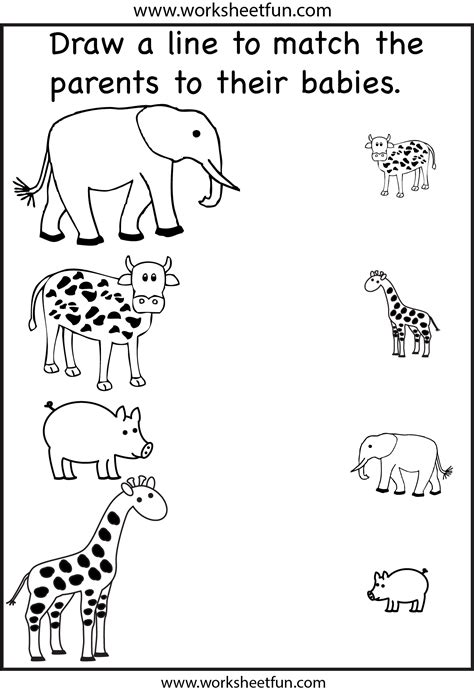 Match The Parents  2 Worksheets  Free Printable