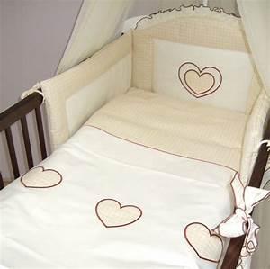 Bettwäsche Set Baby : 5 st ck baby kinderzimmer bettw sche cot kinderbett nestchen set herz stickerei ebay ~ Markanthonyermac.com Haus und Dekorationen