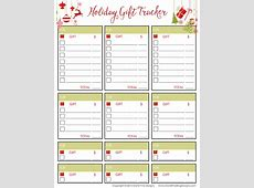 Holiday Gift Tracker Free Printable Included
