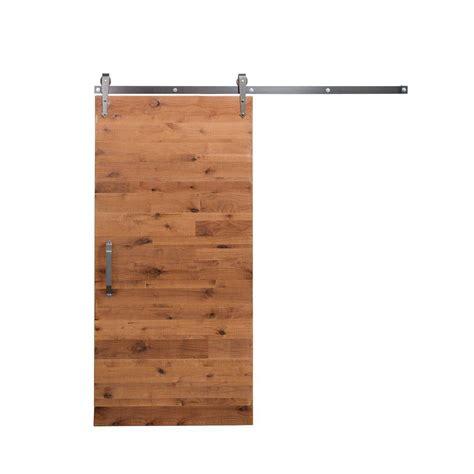 barn door home depot rustica hardware 42 in x 84 in reclaimed clear wood barn