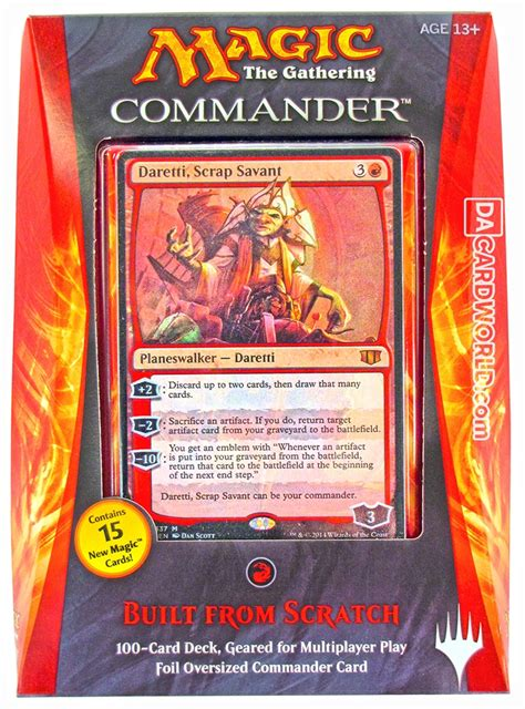 magic the gathering commander deck 2014 built from scratch da card world