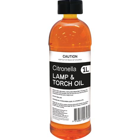 waxworks 1l citronella l and torch bunnings warehouse