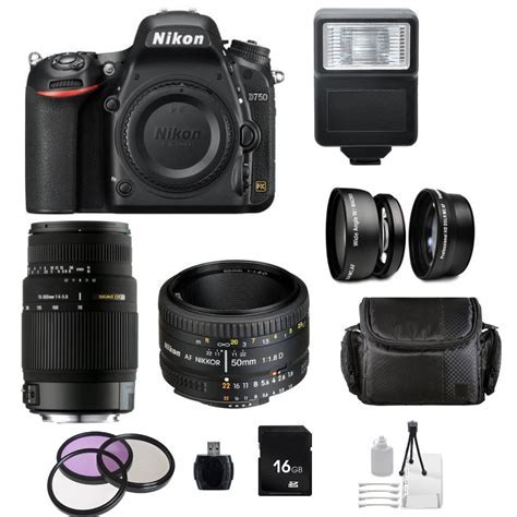 Nikon D750 DSLR Camera with AF Nikkor 50mm f/1.8D