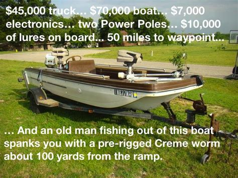 Old Bass Boat by Funny Fishing Memes Part 1 Respect The Fish