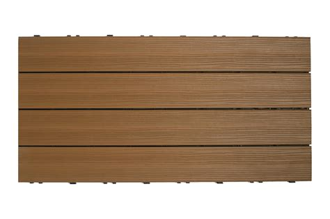 kontiki interlocking deck tiles composite quickdeck series teak 12 quot x24 quot x1 quot