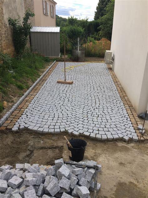 pose de pav 233 s en granit du portugal amenagement exterieur pose de pav 233 granit
