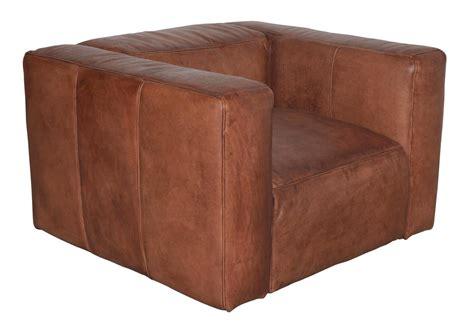 acheter votre fauteuil club en cuir vieilli cognac chez simeuble