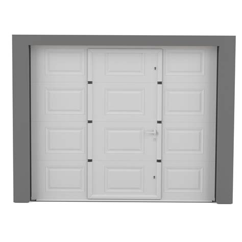 porte de garage sectionnelle motoris 233 e artens essentiel h 200 x l 240 cm leroy merlin