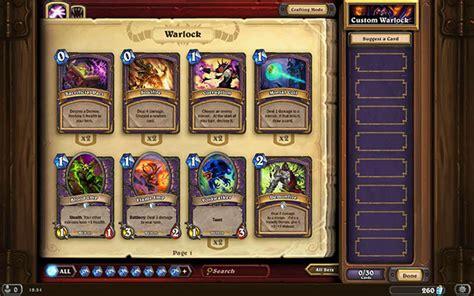 warlock ready made decks hearthstone heroes of warcraft guide and walkthrough
