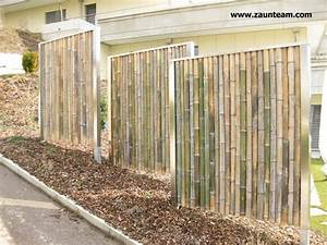 Sichtschutzzaun Bambus Holz : zaun und tor referenzen von zaunteam bambus sichtschutzzaun 8413 neftenbach zaunteam ~ Markanthonyermac.com Haus und Dekorationen