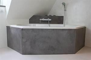 Beton Cire Verarbeitung : beton cire badkamer stoere industriele betonlook badkamer van beton cire beton aparte ~ Markanthonyermac.com Haus und Dekorationen