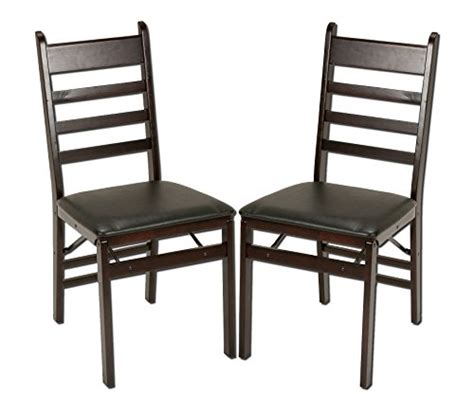 cosco 2 pack wood folding chair with vinyl seat and ladder back espresso in the uae see prices
