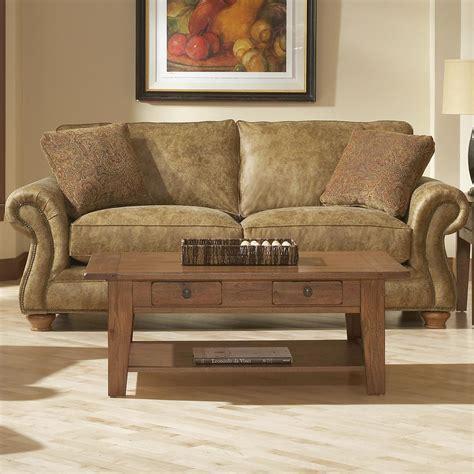 broyhill furniture laramie sofa w nail trim conlin s furniture sofas
