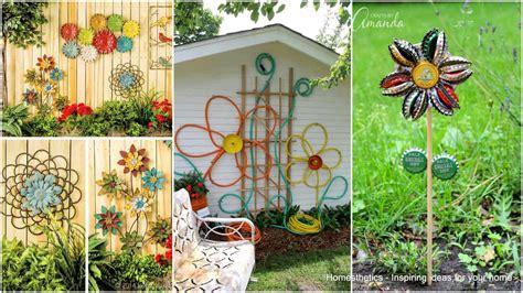 Garden Art : Simple Low Budget Diy Garden Art Flower Yard Projects To