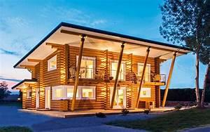 Holzblockhaus Aus Polen : musterhaus mikado von l onwood holz blockhaus ~ Markanthonyermac.com Haus und Dekorationen