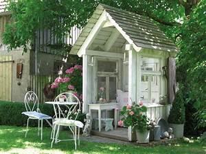 Gartenhaus Shabby Chic : deko ideen shabby chic f r den garten mein sch ner garten ~ Markanthonyermac.com Haus und Dekorationen