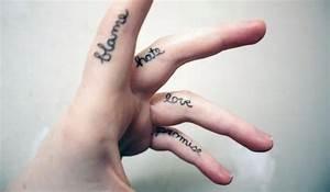 手指侧纹身图案大全内容图片分享