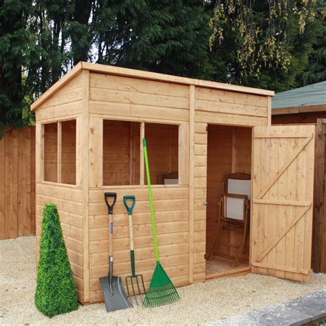 4 x 8 wooden storage shed mercia garden products 8 x 4 wooden shiplap pent storage