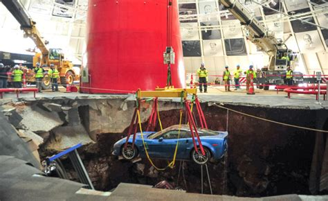 chevrolet museum decides to completely fill sinkhole