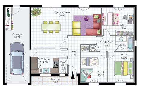 construction maison plan avec terrasse plans maisons