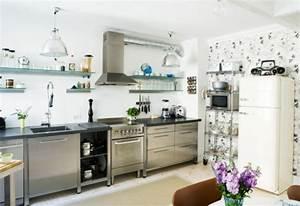 Küche Deko Ikea : edelstahl k che 58 elegante beispiele ~ Markanthonyermac.com Haus und Dekorationen