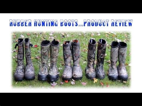 Rubber Boot Comparison by Rubber Hunting Boots Comparison Review Youtube