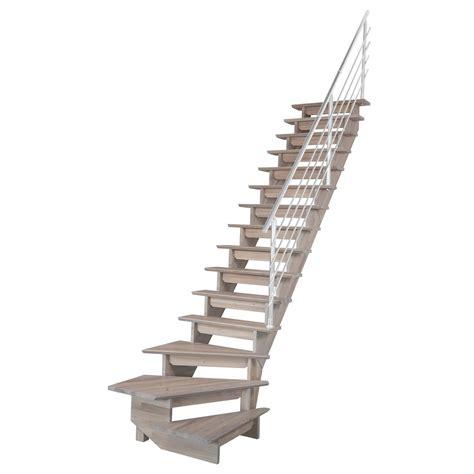 escalier quart tournant bas droit auvergne structure bois marche bois leroy merlin