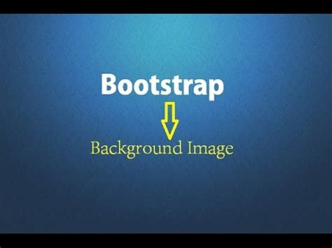 Bootstrap Image Background
